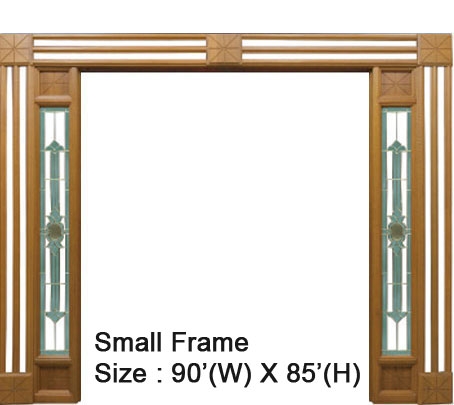 Furndor Doors Ridge Wood Series Small Frame
